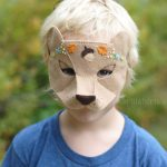 woodland bear halloween mask
