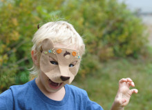 Woodland Bear Felt Mask Pattern