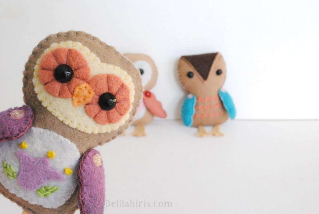 felt owl toys