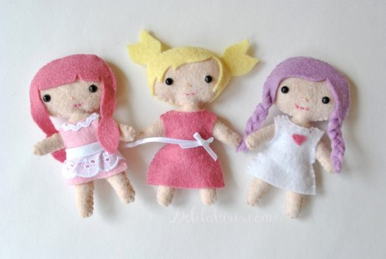 sewing felt dolls kit