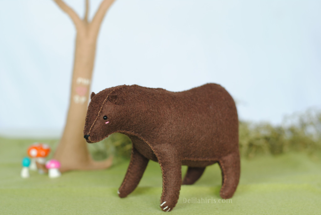 felt animal bear craft kit
