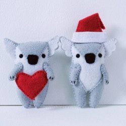 stuffed felt koala ornament