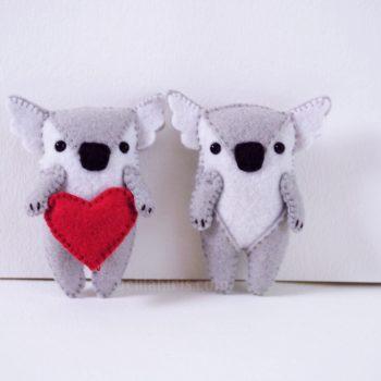felt koala pattern