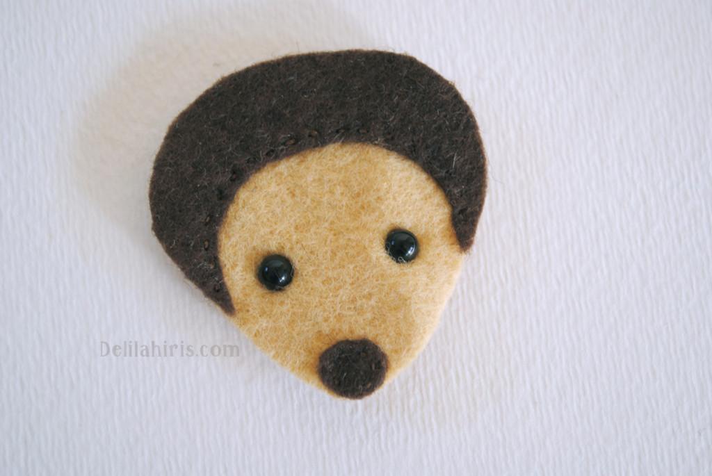sewing hedgehog stuffie