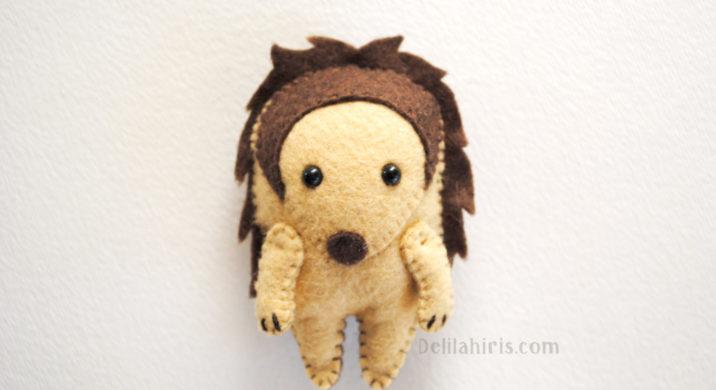 felt stuffed hedgehog pattern
