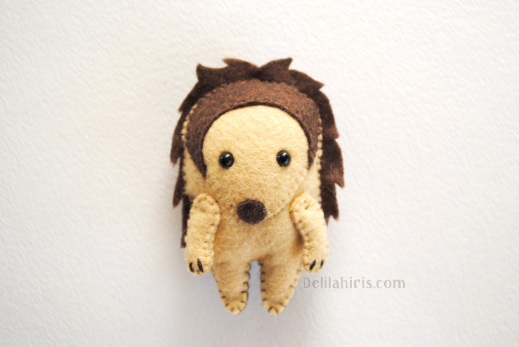 felt stuffed hedgehog pattern