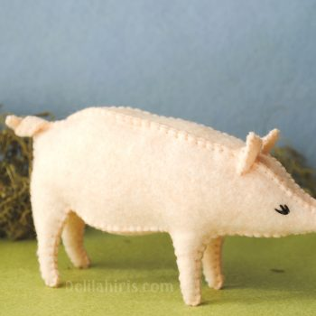 felt pig sewing pattern