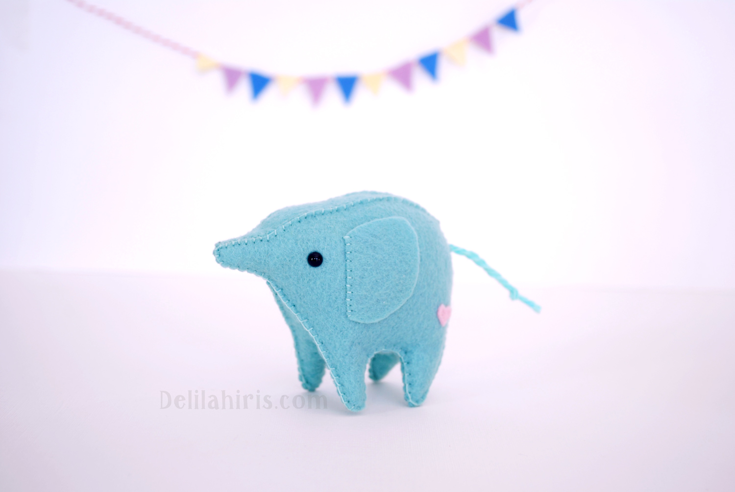 felt kawaii elephant pattern
