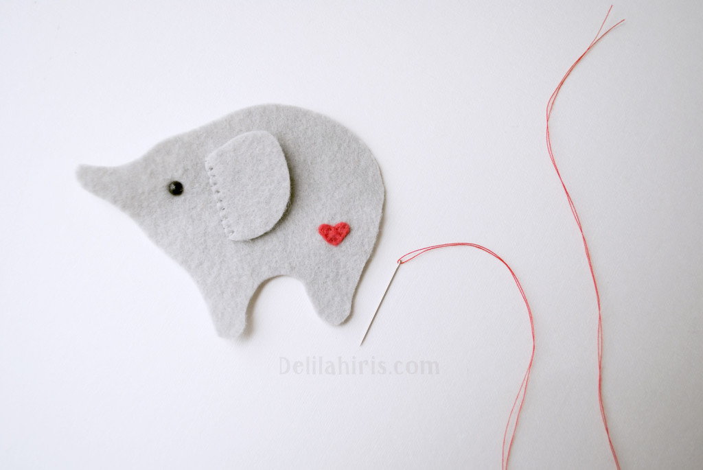 sewing felt stuffed elephant