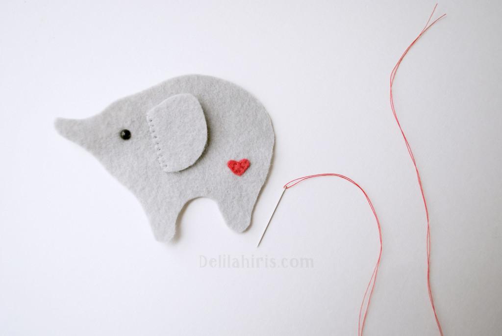 sewing felt stuffed elephant