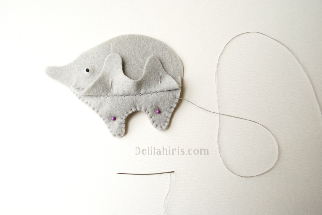 sewing felt elephants