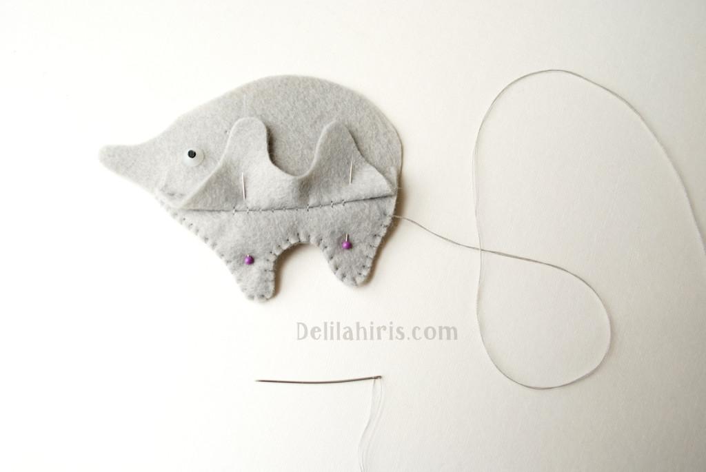sewing felt elephants