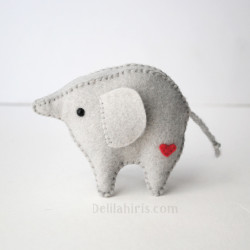 kawaii felt elephants