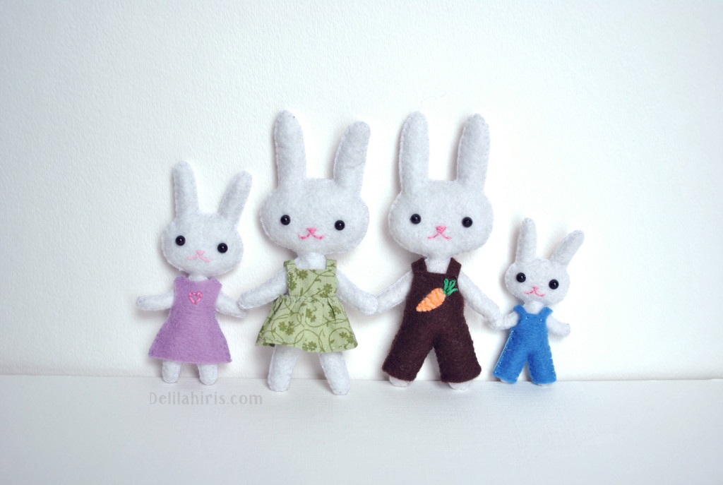 Bunny Dolls Sewing Pattern
