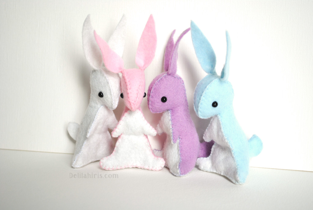 mini bunny rabbit pattern
