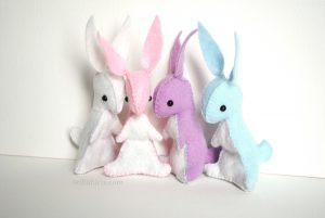 mini bunny rabbit pattern