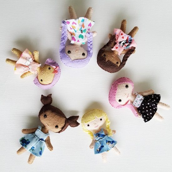 tiny felt dolls sewing pattern
