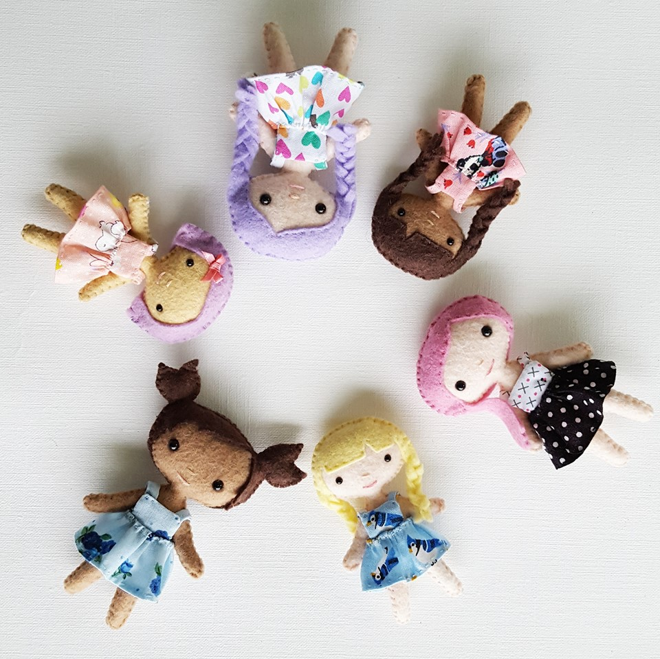 Small Toy Dolls : Delilahiris handmade mini dolls and felt stuffed animals