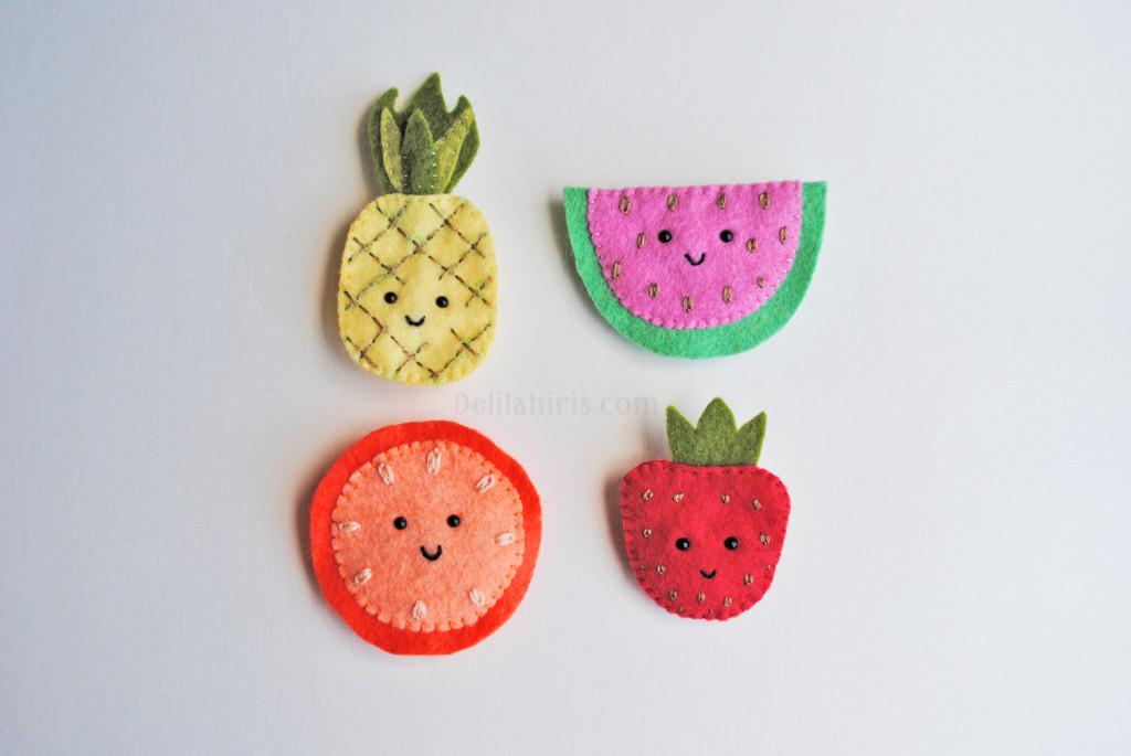 felt fruit brooch patterns