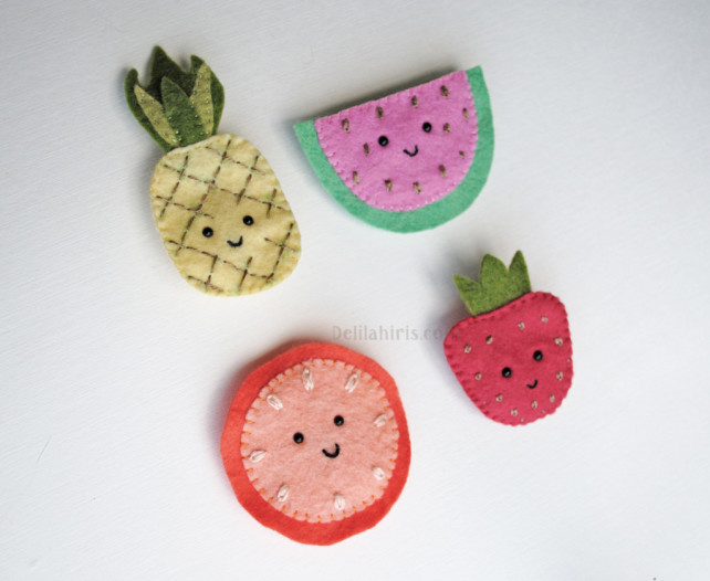 Fun & Fruity Felt Brooches Sewing Pattern