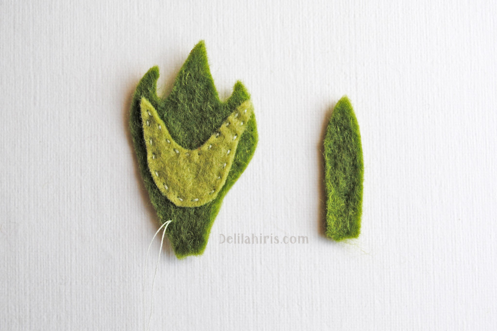 sewing felt brooch