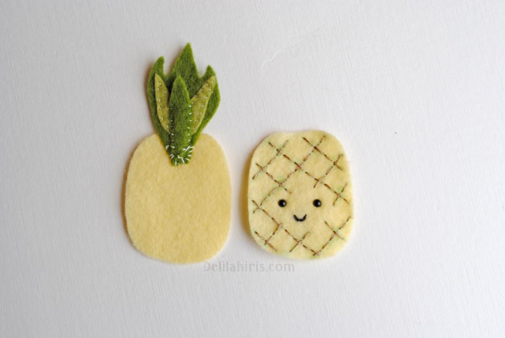 felt pineapple brooch pattern