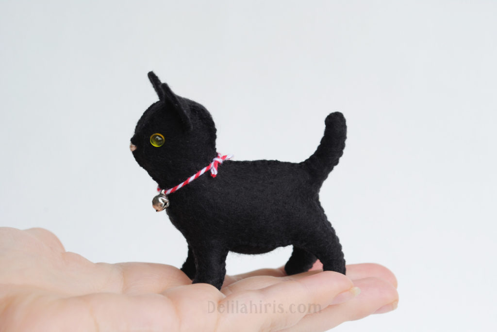 felt kitten sewing pattern