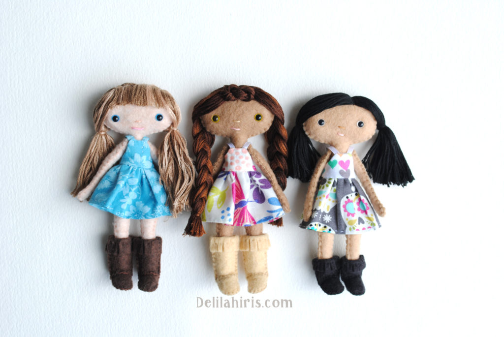 A New Felt Doll Sewing Pattern... Daffodilly Dandelion Dolls Are ...