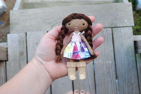 felt doll sewing pattern