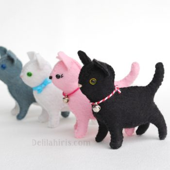 felt cat sewing pattern