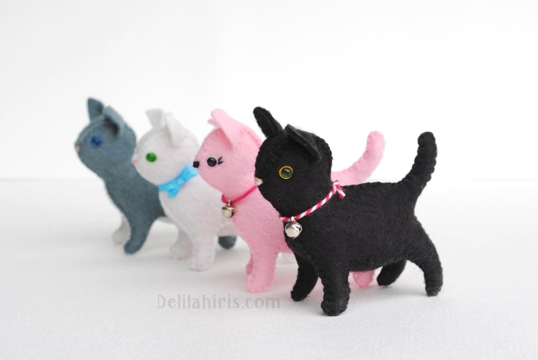 adorable new little felt cat pattern sew your own little