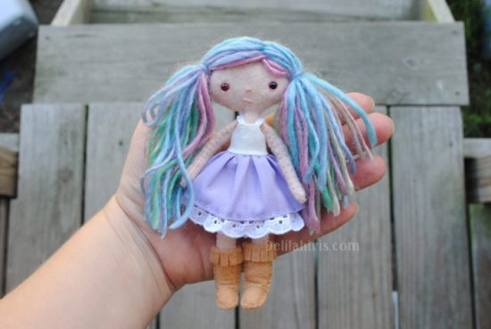 tiny felt pocket doll pattern