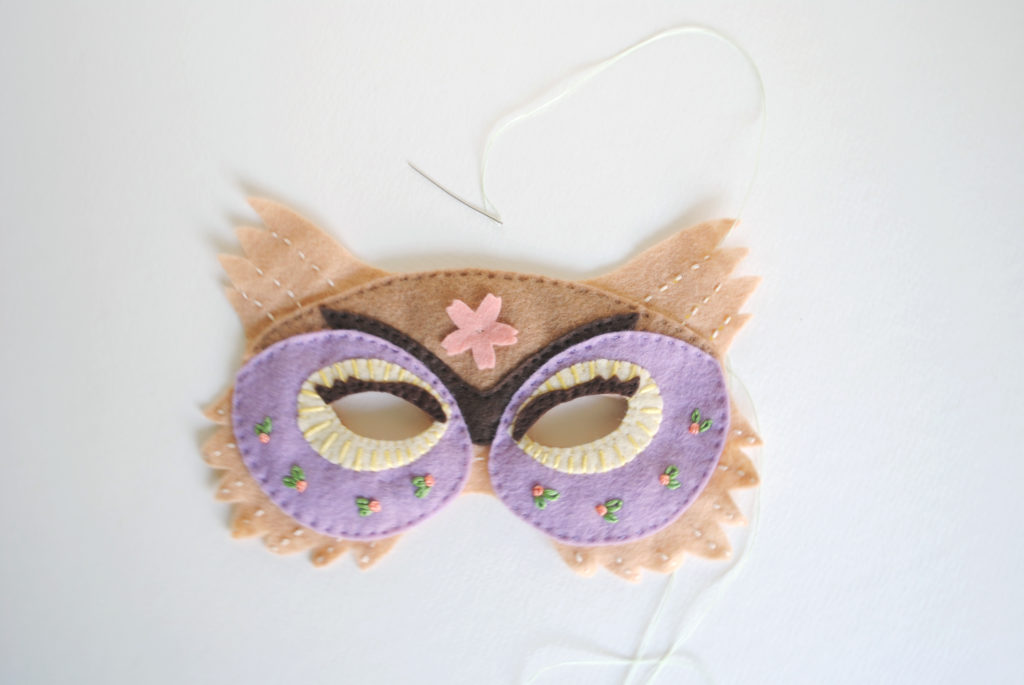 owl mask felt pattern