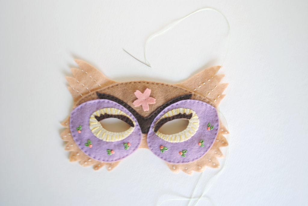 owl mask felt pattern