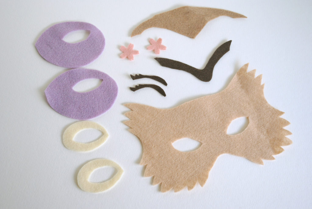 Owl mask pattern