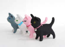 Adorable New Little Felt Cat Pattern