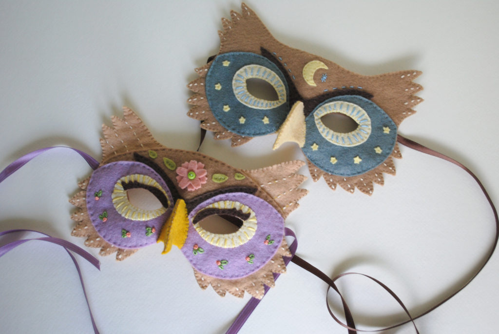 Felt Owl Mask Pattern! Perfect For Halloween Or Dress-up - Delilah Iris