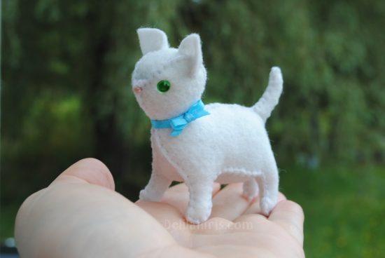 stuffed felt cat