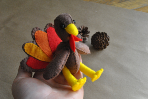 felt turkey pattern