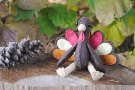 Turkey Stuffed Animal Pattern – Sew Your Own Felt Turkey Doll!