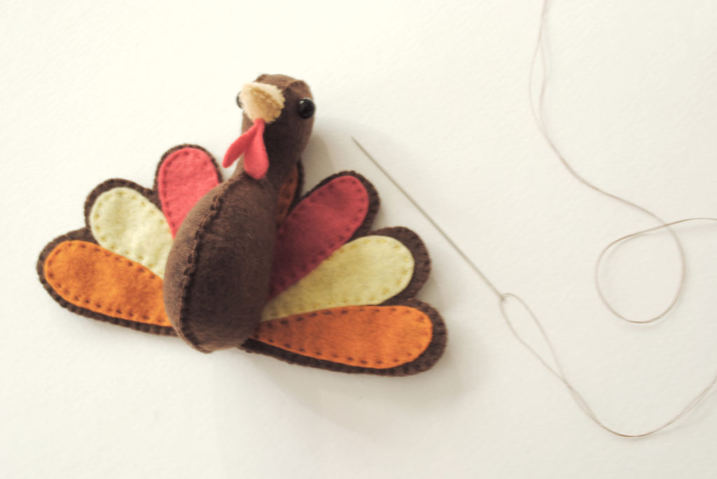 sew a stuffed turkey plush