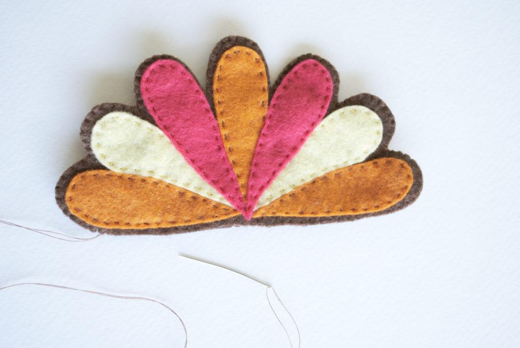 Turkey sewing pattern plummage