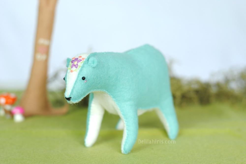 handmade felt bear
