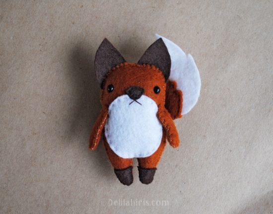 felt fox ornament pattern