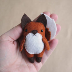 felt fox ornaments