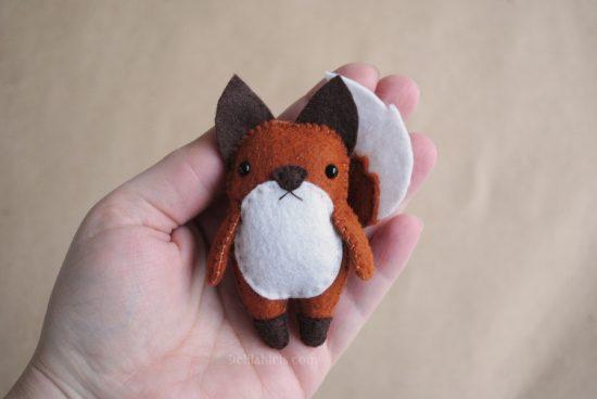 fox felt ornament pattern