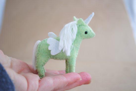 miniature stuffed unicorn