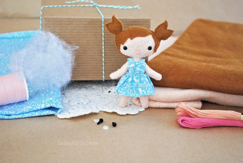 handmade doll sewig kit