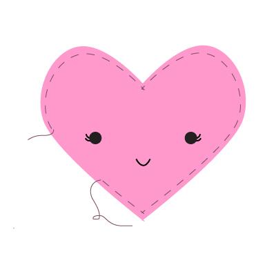 hand stitched valentines