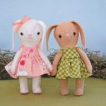 jointed felt bunny doll
